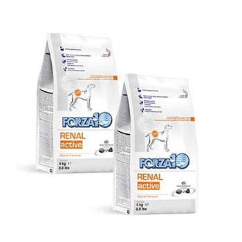 腎臓の健康維持食事療法食 FORZA10 ついに入荷 犬用 アクティブライン リナール アクティブ 腎臓ケア 8kg ドックフード ペットフード DOG 4kg×2袋 セットアップ FOOD ドッグフード 正規品