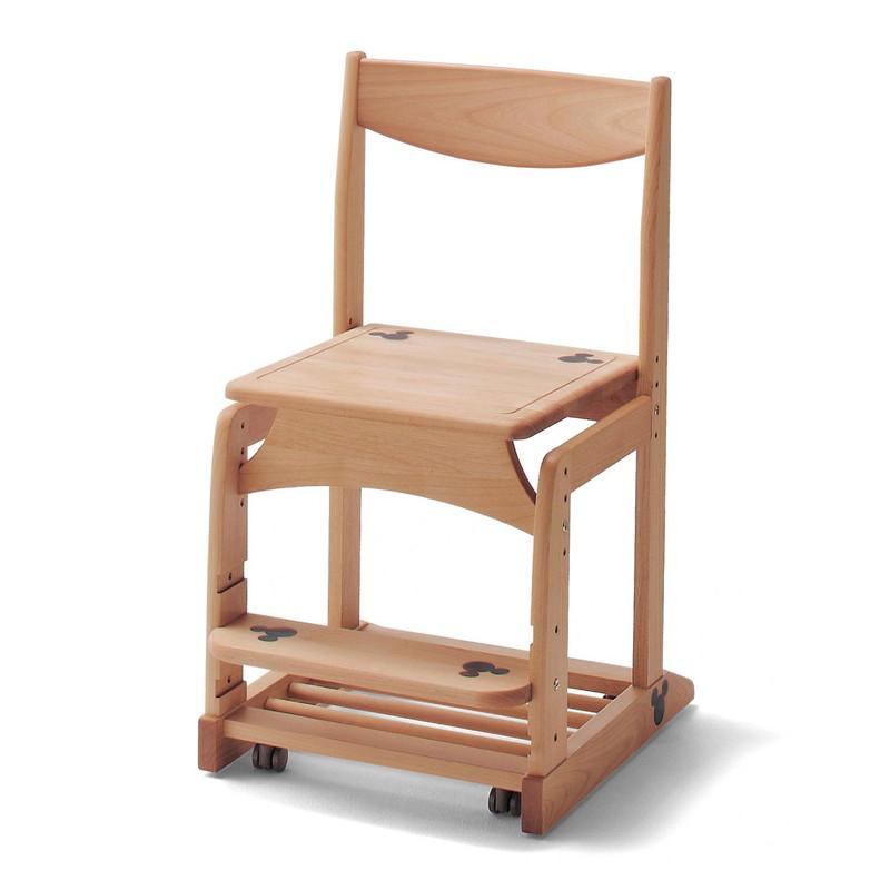 【エントリーでポイント10倍!8/9 1:59まで】【Disney】ディズニー 天然木の学習チェア 家具 収納 子ども 子供 キッズ 学習 机 椅子 いす