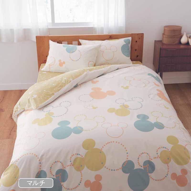 【Disney】ディズニー 綿100%の布団カバー3点セット 「マルチ」 洋式ダブル 寝具 布団 ベッド カバー セット 掛け敷き 掛け布団 3点 bed ファブリック