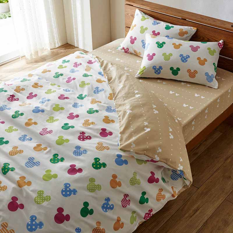【Disney】ディズニー ダニを通しにくい綿100%布団カバー3点セット 「マルチ」 ◆ 洋式ダブル ◆ ◇ 寝具 布団 ベッド カバー セット 掛け敷き 掛け布団 3点 bed ファブリック ◇