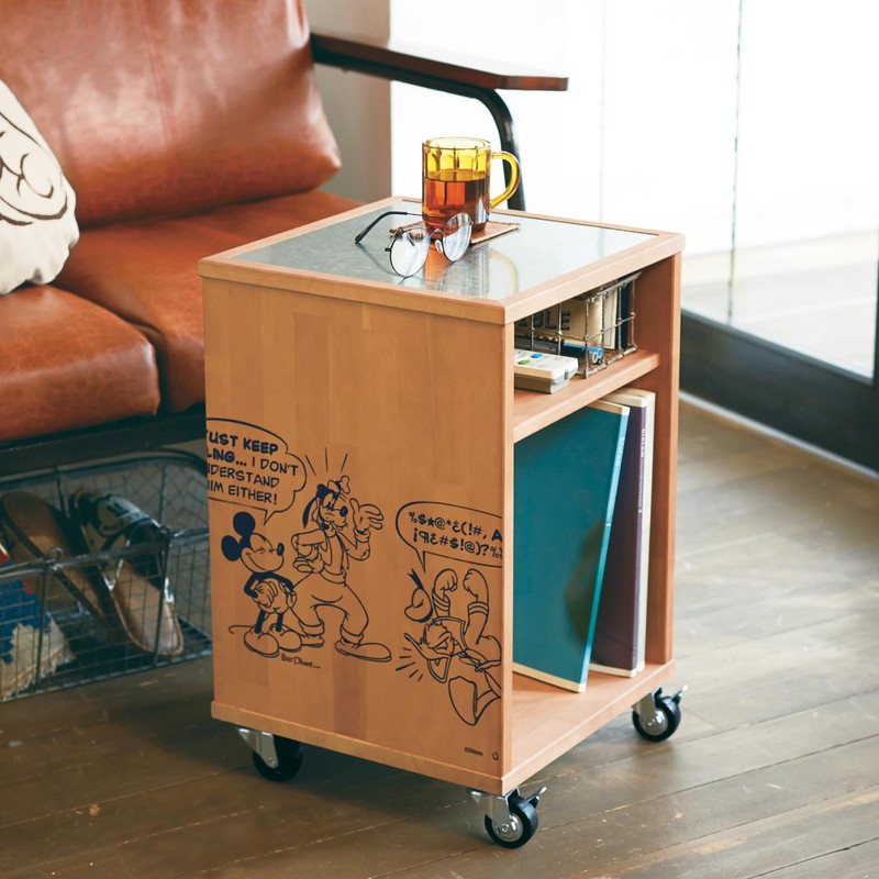 【Disney】ディズニー サイドテーブル 「ナチュラル」 家具 収納 サイド テーブル コンソール