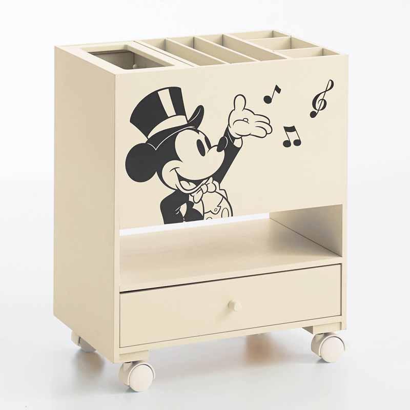 【エントリーでポイント10倍!8/9 1:59まで】【Disney】ディズニー リビングワゴン 家具 収納 リビング キャビネット リビング ボード チェスト