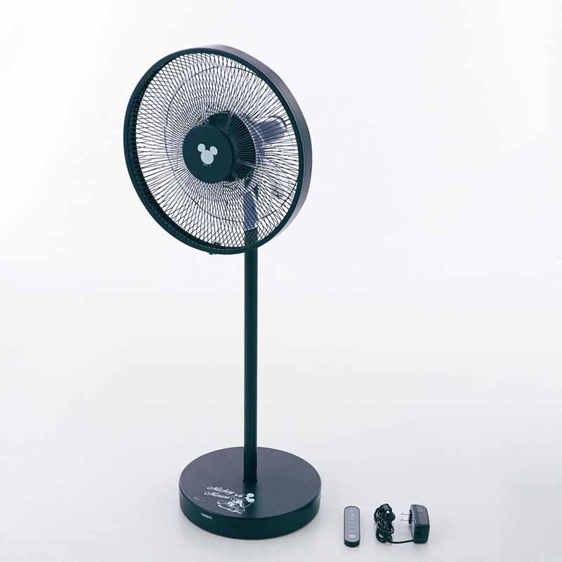 【Disney】ディズニー やわらかな風を送り出すDCモーター扇風機 「ブラック」 家電 生活家電 リビング 寝室 女性