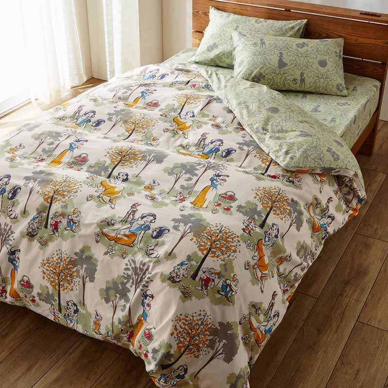【Disney】ディズニー 綿100%の布団カバー3点セット 洋式シングル 和式シングル 寝具 布団 ベッド カバー セット 掛け敷き 掛け布団 3点 bed ファブリック