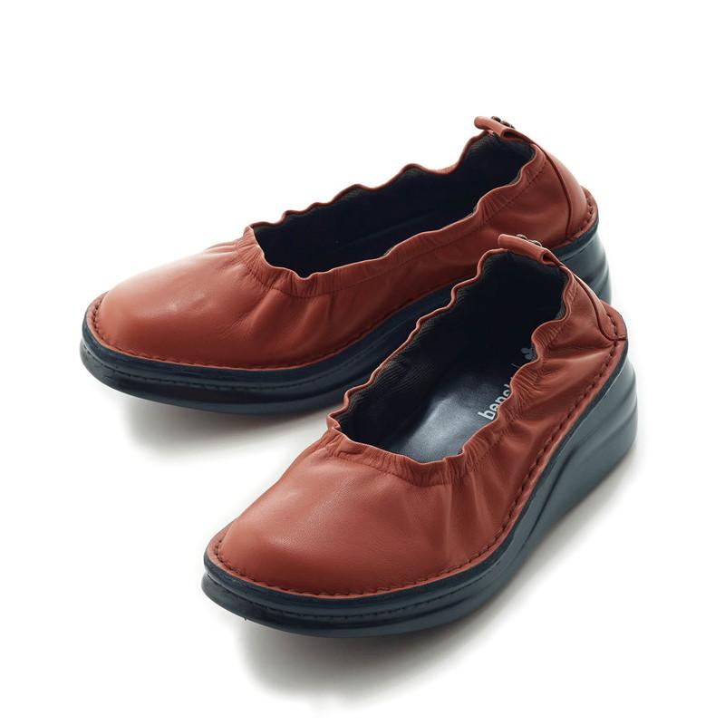 【Disney】ディズニー 日本製本革ソフトシューズ/ミッキーマウス 「オールドローズ」 22.5 23 23.5 24 24.5 靴 レディース 女性 シューズ スリッポン サボ