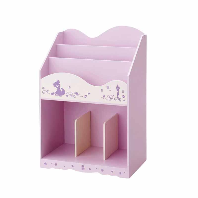 【Disney】ディズニー プリンセス柄の絵本収納ラック 「ラプンツェル」 子供 子供用 家具 収納 キッズ収納 おもちゃ 絵本収納 棚 ラック