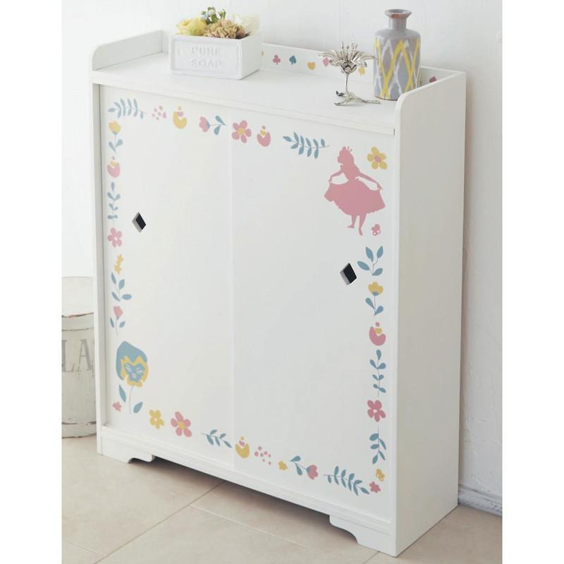 【Disney】ディズニー 薄型トイレ収納ラック 「ふしぎの国のアリス」 55 家具 収納 トイレ ペーパー ラック バスケット