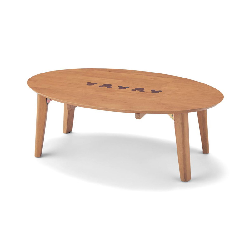 【エントリーでポイント10倍!8/9 1:59まで】【Disney】ディズニー 折りたたみ式リビングテーブル 「ナチュラル」 95×60 家具 収納 ロー テーブル 座卓