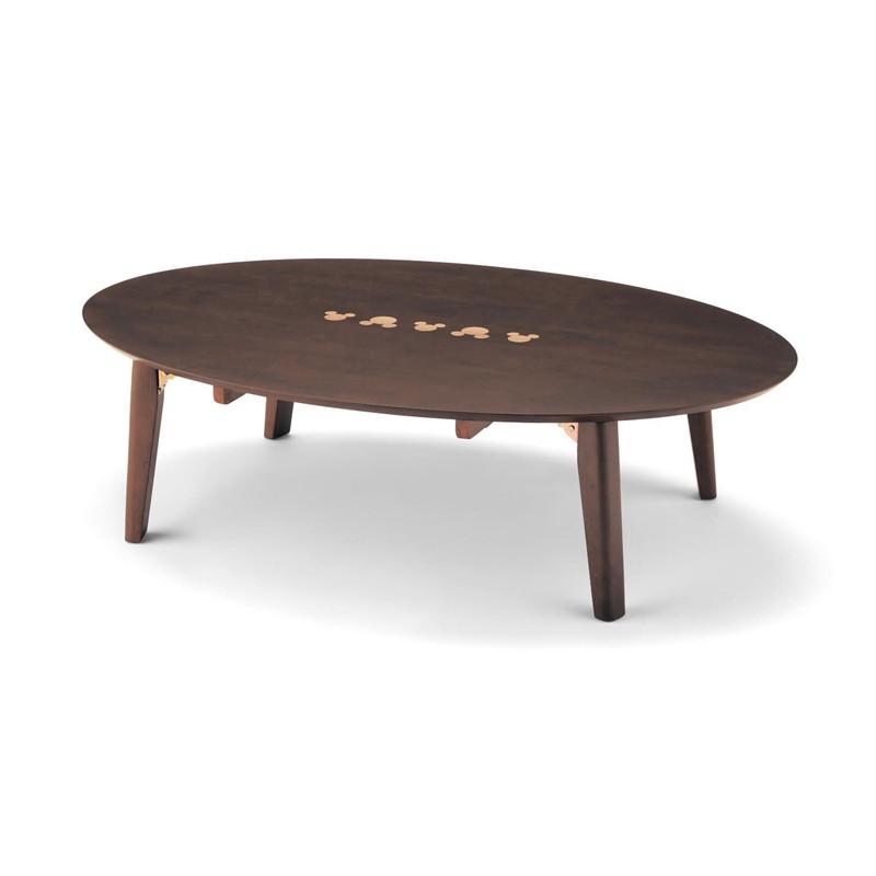 【エントリーでポイント10倍!8/9 1:59まで】【Disney】ディズニー 折りたたみ式リビングテーブル 「ダークブラウン」 120×80 家具 収納 ロー テーブル 座卓