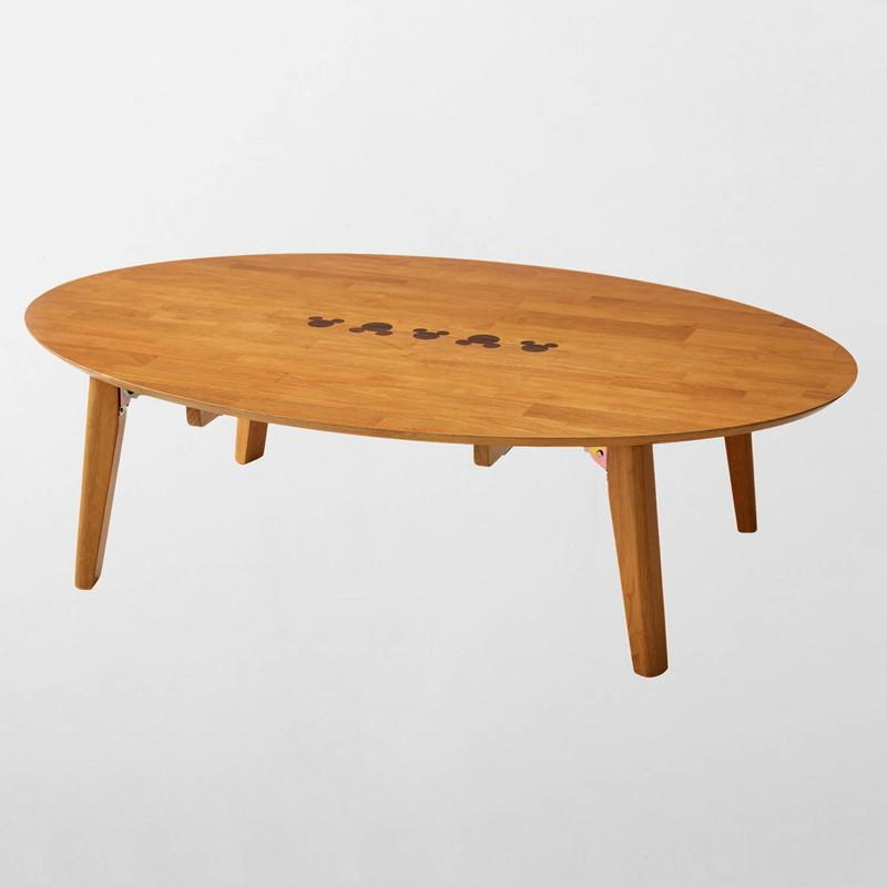 【エントリーでポイント10倍!8/9 1:59まで】【Disney】ディズニー 折りたたみ式リビングテーブル 「ナチュラル」 120×80 家具 収納 ロー テーブル 座卓