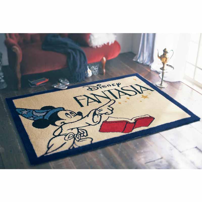 【Disney】ディズニー ふわふわ踏み心地のラグ/Disney Fantasia/ミッキーマウス 約120×180cm