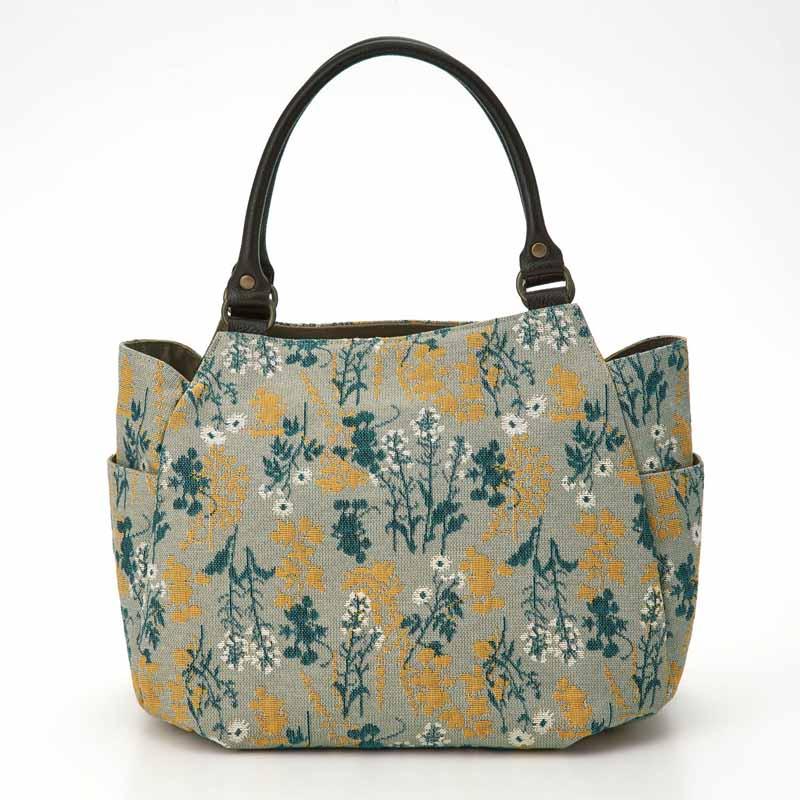 【Disney】ディズニー ゴブラン織り生地使いトートバッグ 「ライトグレー系」 ◇ バッグ カバン かばん レディース 女性 鞄 トート 手提げ 手さげ ◇