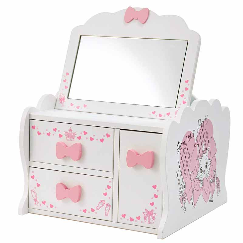 【Disney】ディズニー メイクボックス 「マリー」 ◇ 家具 収納 ボックス ケース メイク 化粧 ワゴン マリーの日 猫の日 ネコの日 ◇