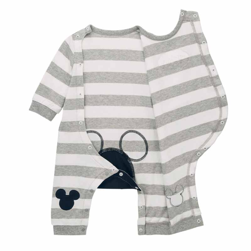 baac0872b3c11 楽天市場  Disney ディズニー おしりミッキー前開きカエルロンパース ...
