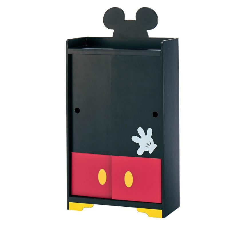 【Disney】ディズニー なりきり薄型トイレラック 「ミッキーマウス」 ◇ 家具 収納 トイレ ペーパー ラック バスケット ◇