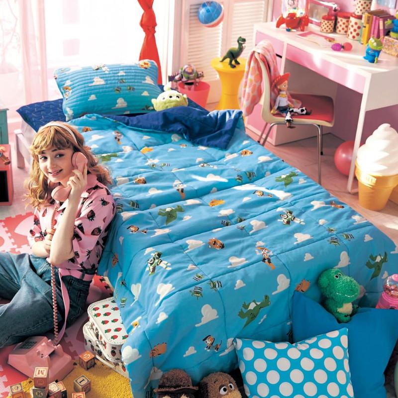 【Disney】ディズニー キルトケット3点セット ◇ 寝具 布団 ベッド ブランケット タオルケット ケット 綿入れ 上掛 春 夏 春夏 昼寝 ベビー キルト bed ◇