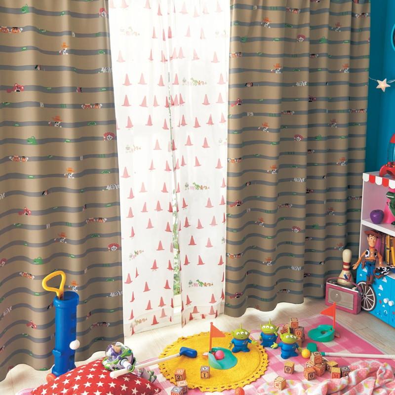 【Disney】ディズニー 遮光カーテン&UVカットレースカーテンセット トイ・ストーリー ◆ 約100×192(4枚) トイ・ストーリー ◆ ◇ カーテン リビング 寝室 子供部屋 厚地 ドレープ おしゃれ デザイン かわいい ◇