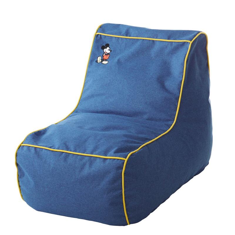 【Disney】ディズニー ビーズ座椅子 「ブルー」 ◇ 家具 収納 座 椅子 いす ◇