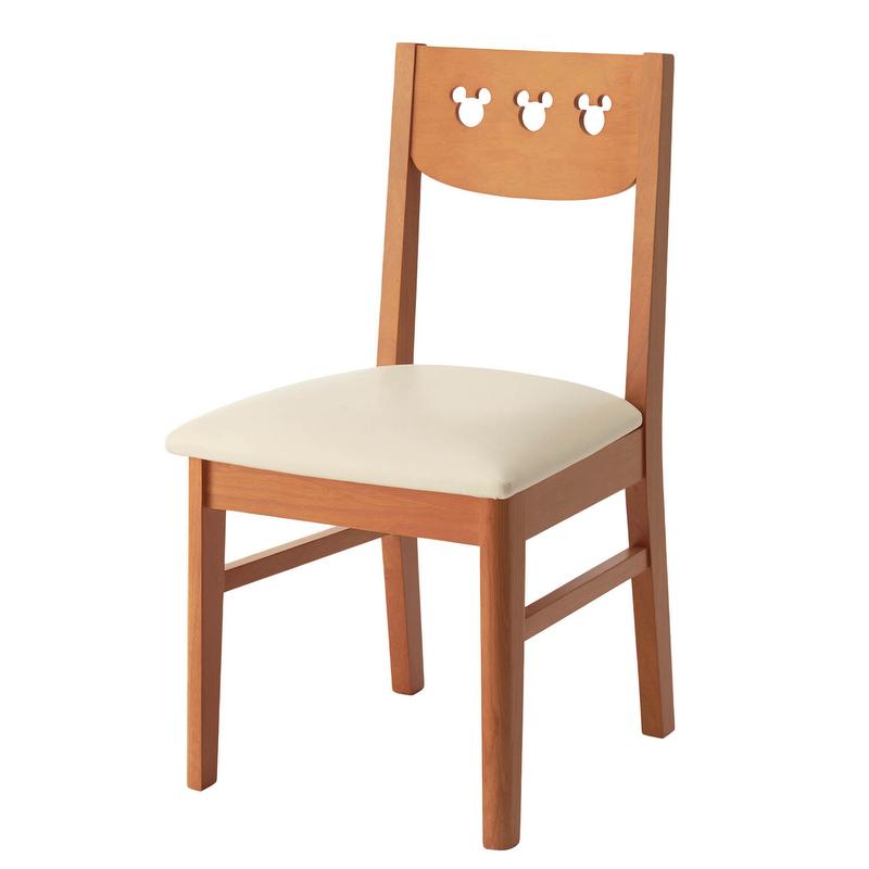 【 Disney 】ディズニー チェア2脚セット ◆ ナチュラル ◆◇ 家具 椅子 チェア いす スツール ダイニングチェア リビングチェア 食卓椅子 ダイニング用 食卓用 木製 リビング 玄関 ダイニング 背あり キャラクター おしゃれ シンプル カントリー ◇