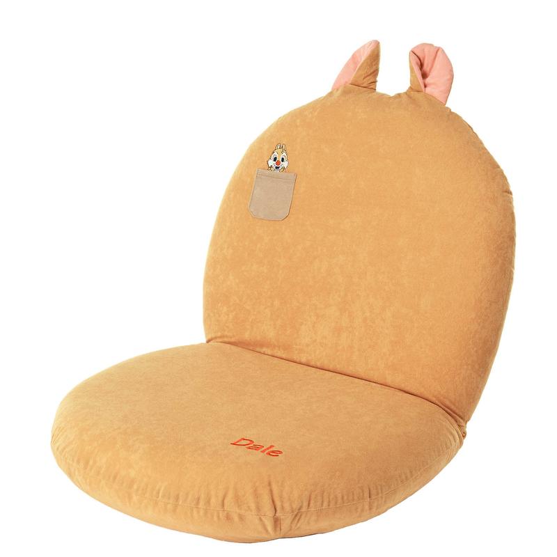 【Disney】ディズニー チップ&デールのモチーフ付き座椅子 「デール」 ◇ 家具 収納 座 椅子 いす ◇