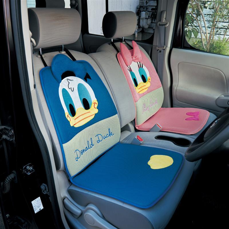 ベルメゾン ディズニー ファンタジー ショップ Disney メッシュ素材の快適シートクッション 選べるキャラクター デイジーダック 防止 税込 汚れ クッション カーグッズ 信頼 カーシートカバー 車用品 カー用品