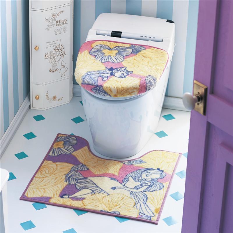 ベルメゾン ディズニー ファンタジー ショップ Disney トイレマット フタカバー 単品 標準マットO おしゃれ Uフタセット 売買 便所 セット お手洗い ふしぎの国のアリス トイレ 最安値挑戦