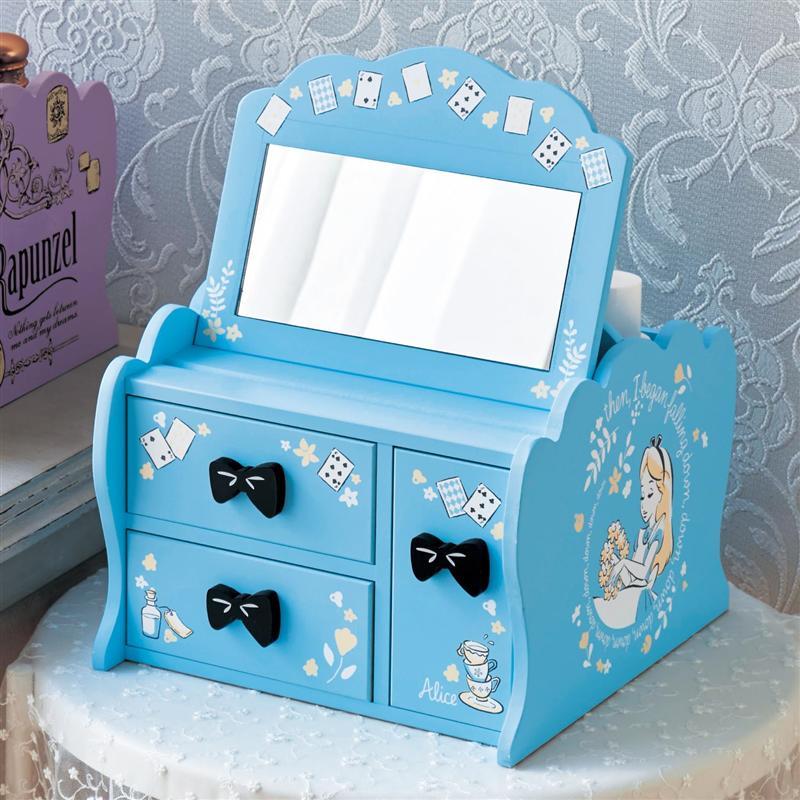 ベルメゾン ディズニー 値下げ ファンタジー ショップ メーカー再生品 Disney メイクボックス 選べるキャラクター ふしぎの国のアリス 家具 ケース メイク ワゴン ボックス 収納 化粧