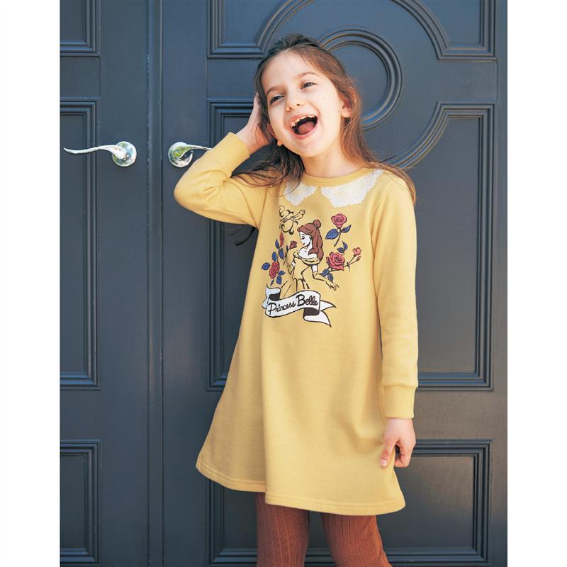 ベルメゾン ディズニー ファンタジー ショップ Disney 裏毛ワンピース 選べるキャラクター ベル 90 新作 人気 100 110 子供 子供用 130 140 120 テレビで話題 女の子 男の子 服 子供服 子供用品 Tシャツ