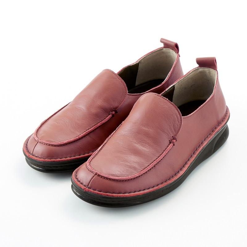 ベルメゾン 大人ファッション ベネビス 日本製 本革 日時指定 フットベッド ハイカット 超激得SALE モカ スリッポン コーラル 21.5 22 23 サボ 25 24.5 レディース シューズ 23.5 22.5 靴 24 女性