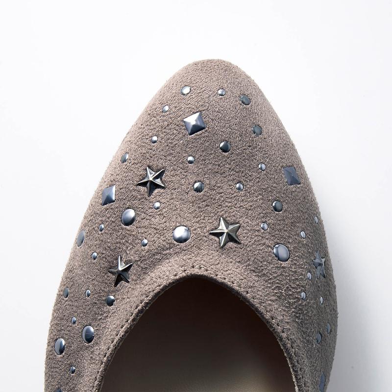 マシュマロみたいなスタッズ風 パンプス◇ フォーマル ビジネス 入園 入学 通勤 通学 日本製 靴 レディース 女性 シューズ パンプス 仕事 オフィス ファッション かわいい オシャレ ベルメゾン ◇uKJclF13T