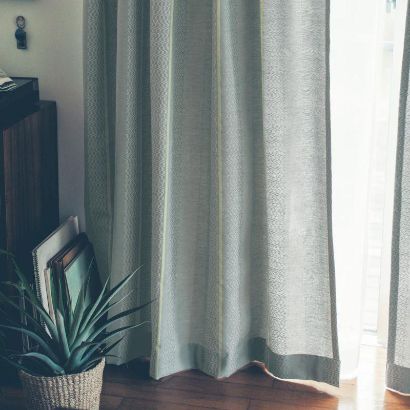【BELLE MAISON】ベルメゾン 繊細さに惹きこまれる。綿糸で織りあげたカーテン[日本製] ◆約130×178(2枚)◆ ◇ カーテン リビング 寝室 子供部屋 厚地 ドレープ おしゃれ デザイン かわいい BELLE MAISON DAYS 新生活 ◇