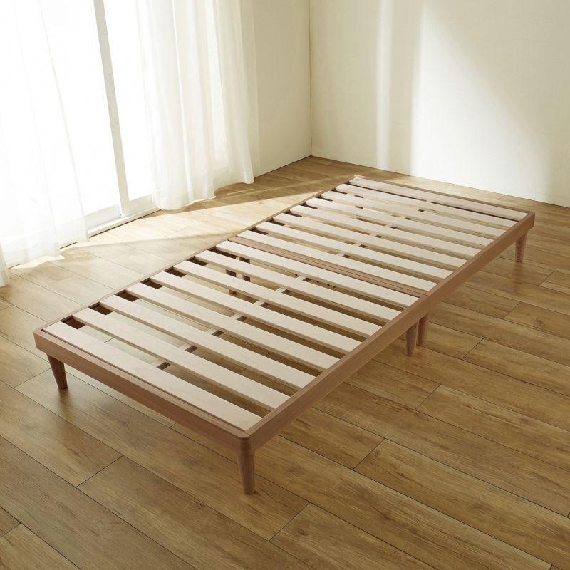 【BELLE MAISON】ベルメゾン 10分で組み立てられるタモ材のすのこベッド 「ナチュラル」 ◆ハイ◆ ◇ 寝具 ベッド 本体 すのこ 通気 bed BELLE MAISON DAYS ◇