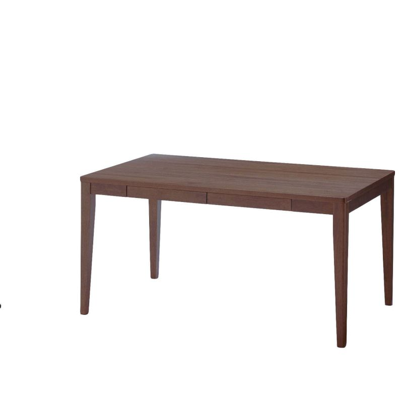 ●ベルメゾン 選べる引出し付きダイニングテーブル 「ダークブラウン」 ◆A/75×75◆ ◇ 家具 収納 ダイニング テーブル セット 椅子 イス チェア ベンチ 食卓◇