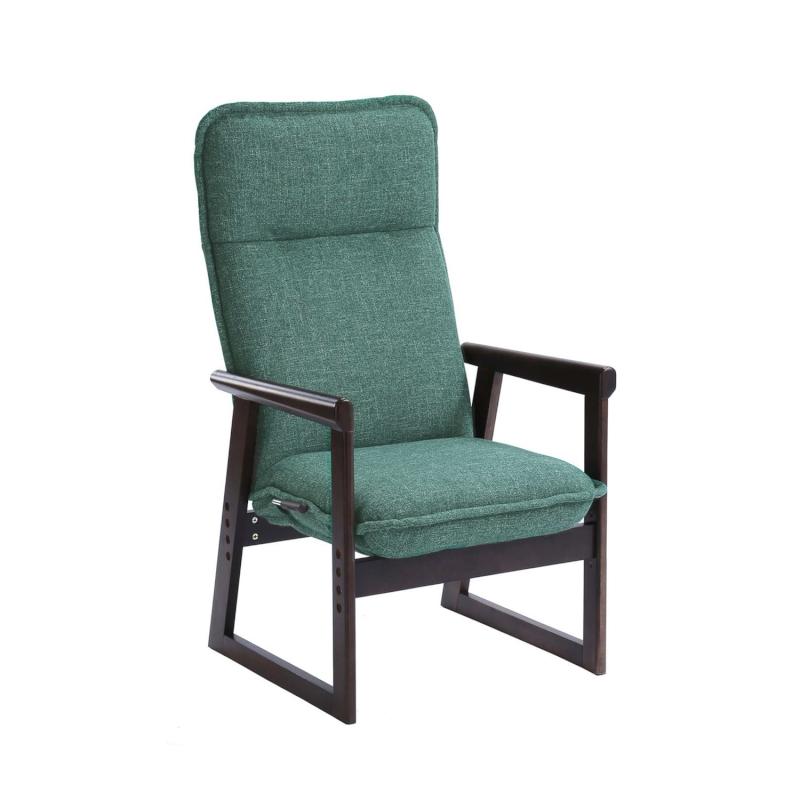 ベルメゾン 色が選べるハイバック高座椅子 「ブラウン×グリーン」◇ 収納 座 椅子 いす リビング ハイバック 座椅子 ロー ◇