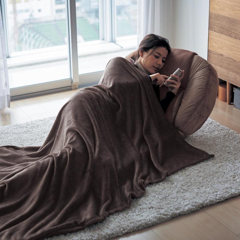 ベルメゾン もっちりとしたもたれごこちのワイド背もたれ座椅子 ◆寝袋付き(サイズ )◆◇ 収納 座 椅子 いす リビング 座椅子 ワイド 寝袋 ごろ寝 ◇