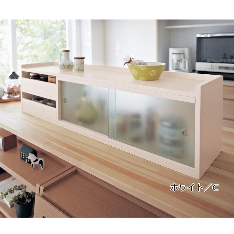 カウンター上収納ボックス 「ホワイト」 ◆B◆ ◇ 家具 収納 キッチン 食器 棚 ボード  新生活 ◇
