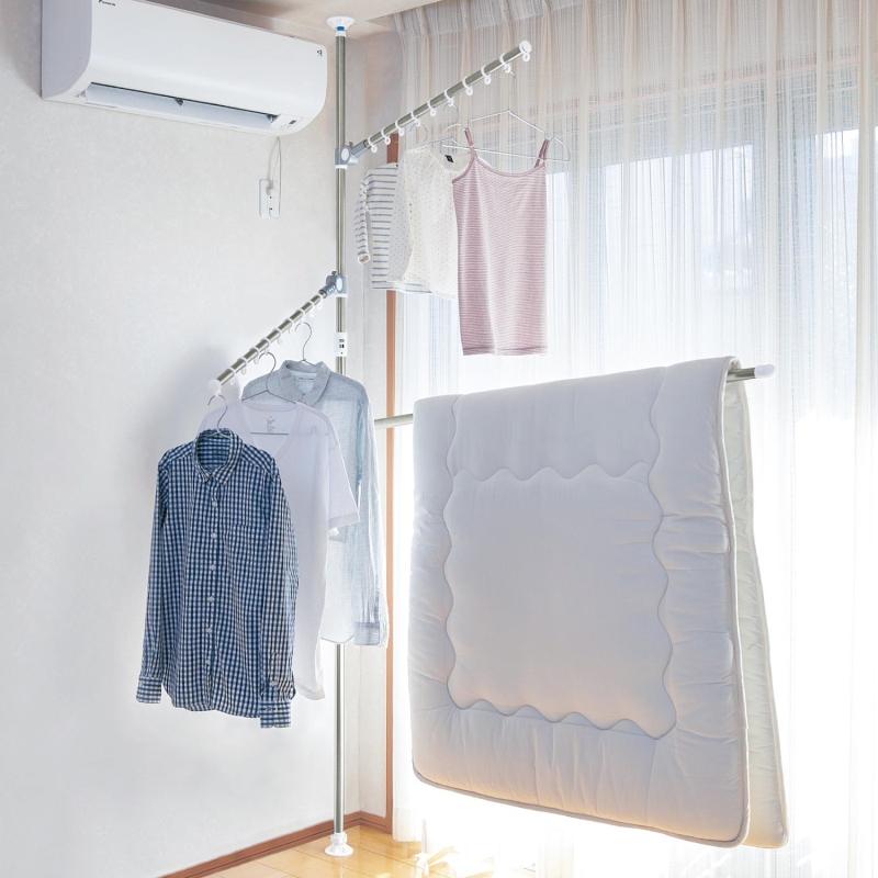 【BELLE MAISON】ベルメゾン マジックストッパー付きどこでもポール ◇ 物干し 洗濯 室内 ランドリー ◇