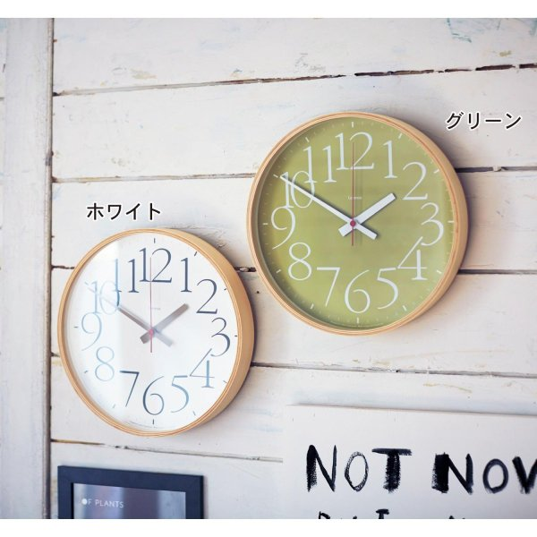 【エントリーでP10倍!5/1(水)9:59まで】【BELLE MAISON】ベルメゾン 文字が見やすい電波時計 カラー 「グリーン」 ◆グリーン◆ ◇ 時計 掛 置 壁 器具 新生活 ◇