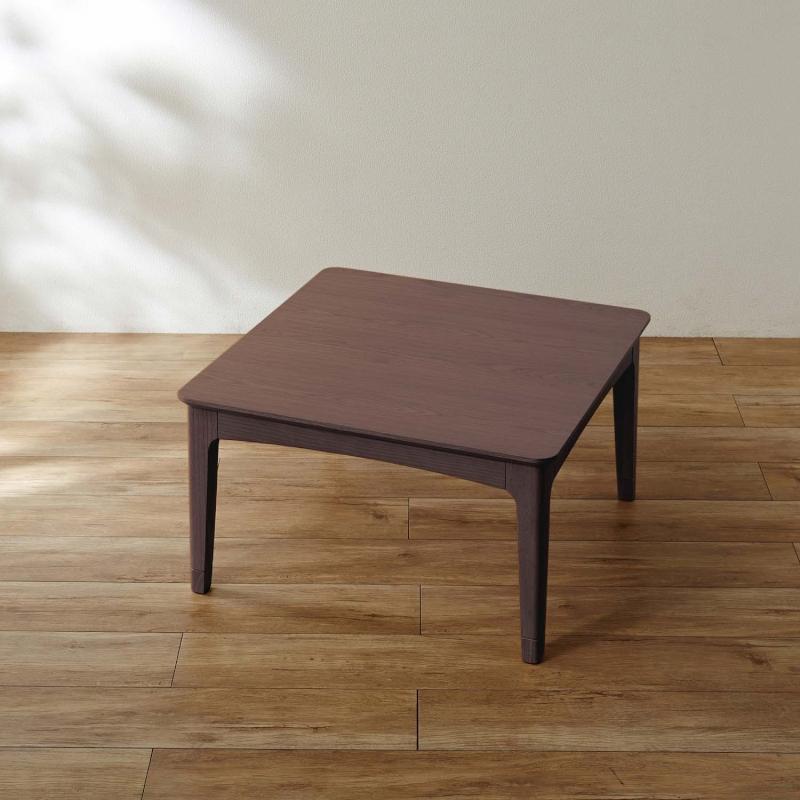 ヒーターが選べる年中使えるデザインにこだわったこたつ 「ダークブラウン」 ◆ 正方形・C ◆ ◇ 家具 収納 こたつ 炬燵 本体 長方 正方 形 ◇