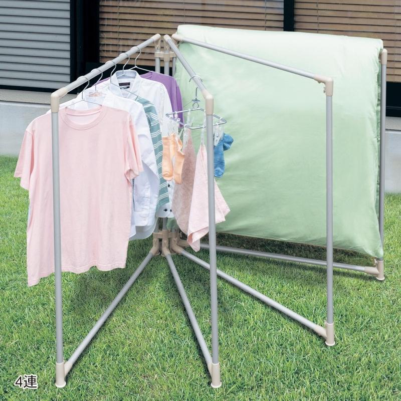 【BELLE MAISON】ベルメゾン 汚れがつきにくい布団も干せる扇形物干し ◆5連◆ ◇ 物干し 洗濯 室内 ランドリー ◇