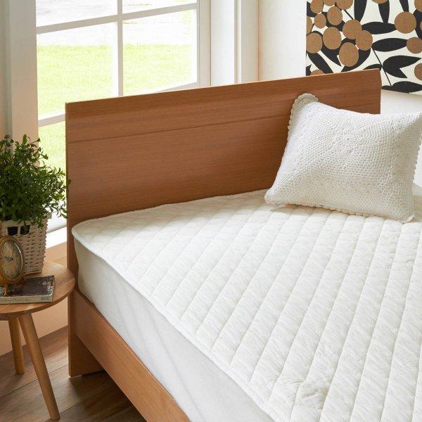 公式 家具 ランキングTOP10 インテリアのベルメゾン 市場店 新生活 新入学 に ベルメゾン パシーマ敷きパッド パットシーツ ダブル 敷きパッド ベッド カバー パッド 数量は多 寝具 布団 bed 敷パッド ファブリック シーツ