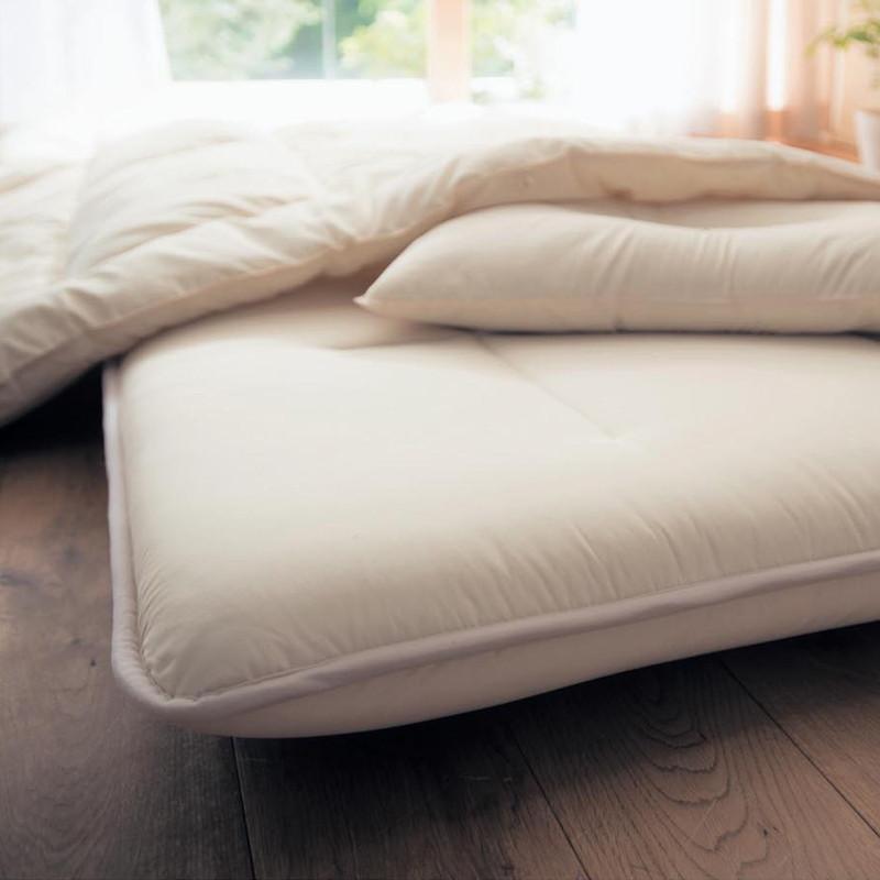 ベルメゾン ボリューム敷布団[日本製] ◆ダブル(サイズ)◆◇ 寝具 布団 ベッド ふとん 敷き布団 敷布団 敷き bed◇