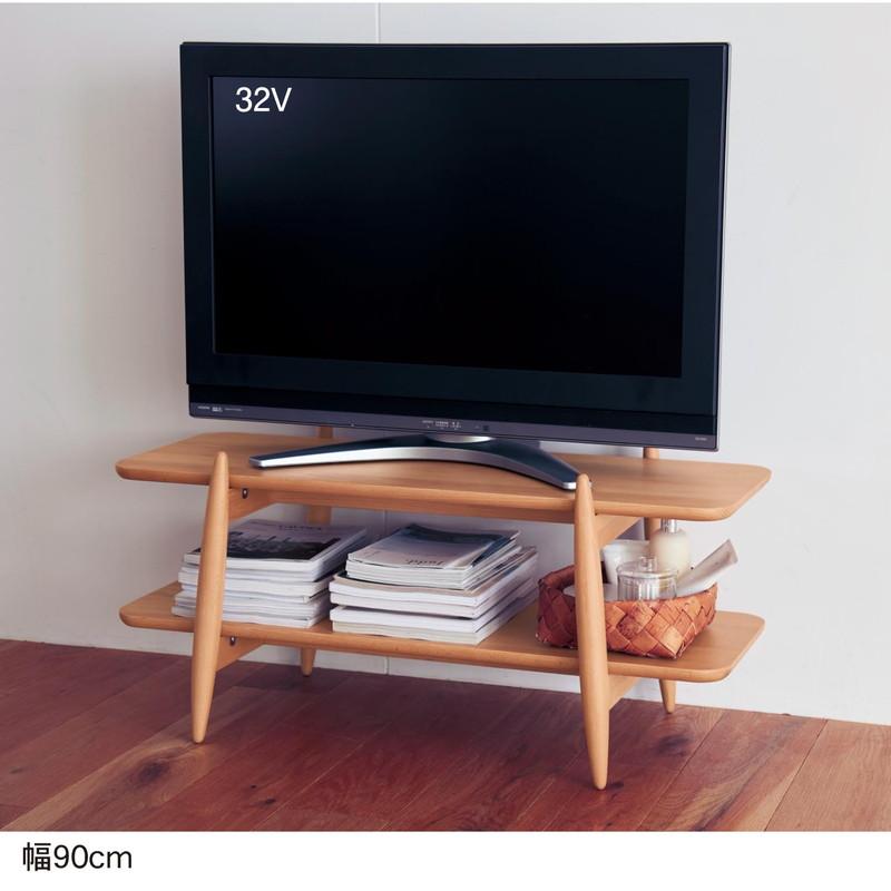 ベルメゾン すっきりとしたまるみの北欧調テレビラック ◆90(幅(cm))◆◇ 家具 収納 リビング テレビ 台 ボード TV 家電 幅 ◇