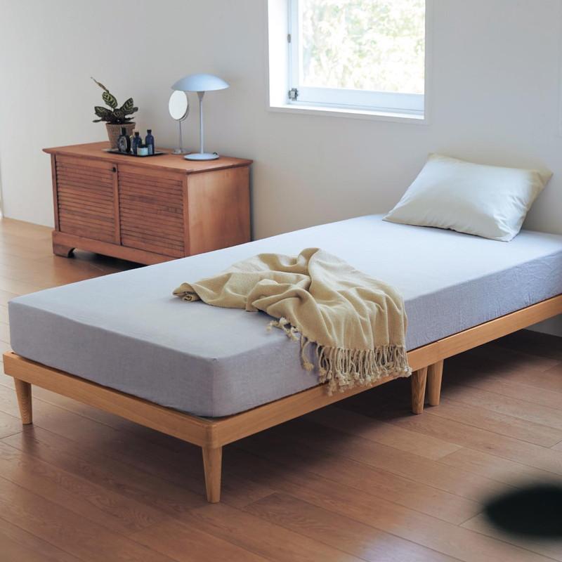 公式 家具 インテリアのベルメゾン クリアランスsale!期間限定! 市場店 新生活 新入学 に 10分で組み立てられるタモ材のすのこベッド ナチュラル ハイ 寝具 至上 通気 DAYS MAISON ベッド BELLE bed 本体 すのこ
