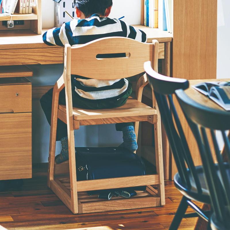 ベルメゾン タモ材の座面可動式チェア ◇◇ 家具 収納 子ども 子供 キッズ 学習 机 椅子 いす 入学 入園 勉強 教科書 宿題 BELLE MAISON DAYS ◇