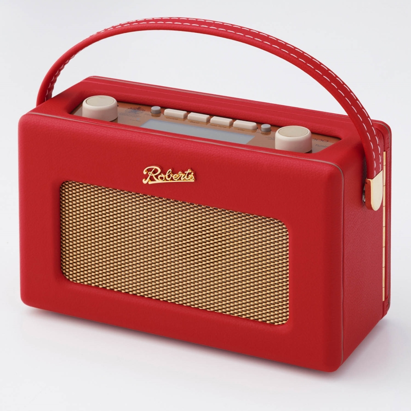 ベルメゾン 英国王室御用達 ロバーツラジオ 「レッド」◇ ポータブル ラジオ おしゃれ デジタル音源接続可 生活家電 リビング 女性◇
