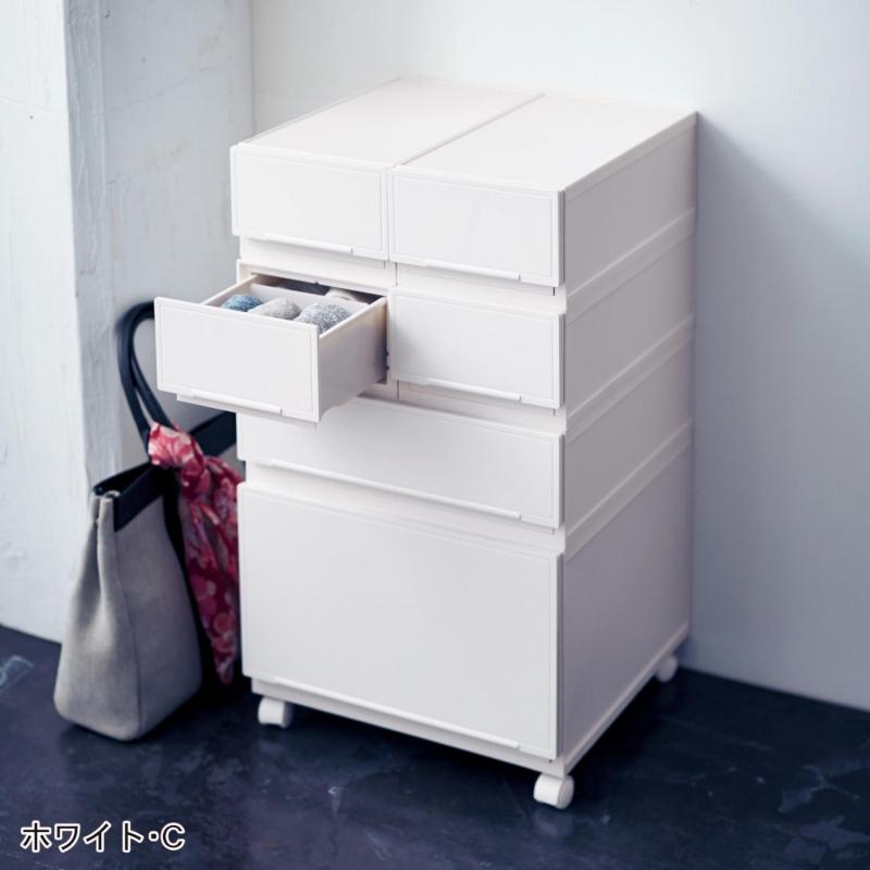 ベルメゾン クローゼット隙間ケース 「ホワイト」◆C◆◇ 収納 クローゼット 押入 衣装 ケース ボックス 衣替え 押し入れ◇