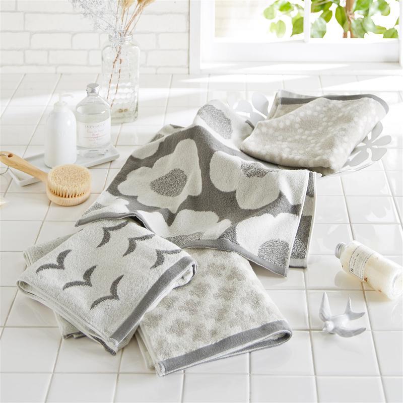 公式 家具 インテリアのベルメゾン 市場店 ベルメゾン 賜物 揃えて可愛い北欧調デザインのミニバスタオル4枚セット モノトーン 洗顔 吸水 タオル バス 風呂 AL完売しました。 フェイス