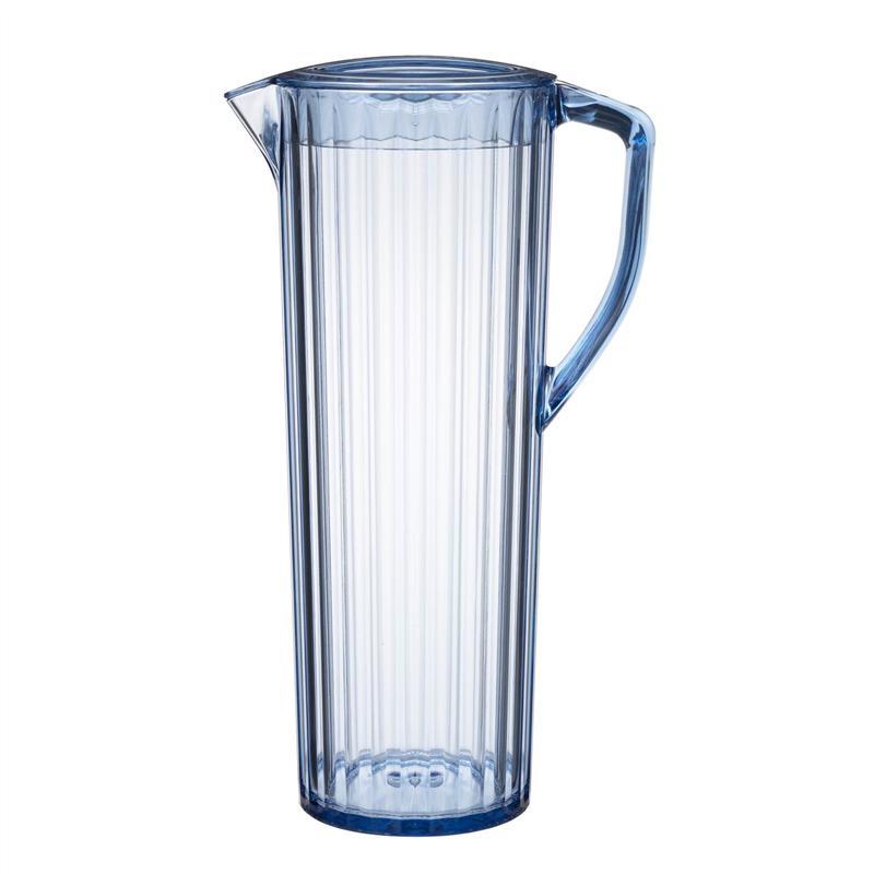 直送商品 公式 家具 インテリアのベルメゾン 市場店 ベルメゾン ガラスのような透明感の冷水筒 1.2L ブルー キッチン 耐熱 特価 冷蔵庫 用具 お茶 ボトル 調理 ドリンク 用品 グッズ