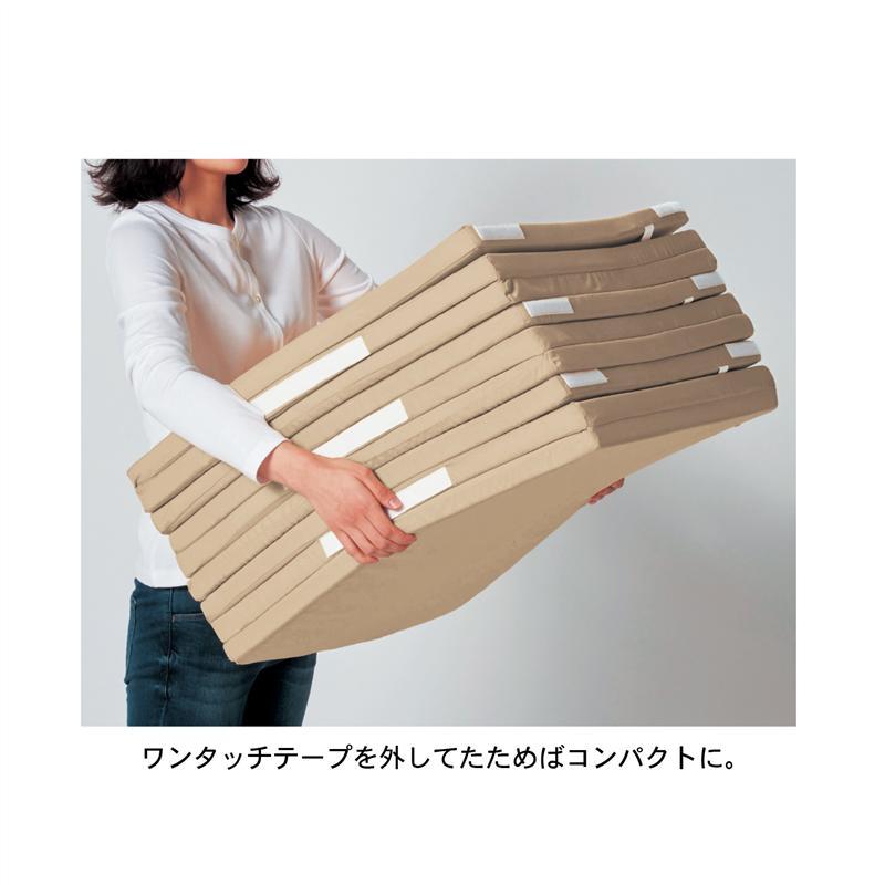 カバーが洗えるさらっと素材の折りたたみ防音厚手ラグ